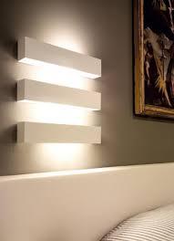 bedroom wall lighting parma 250 white plaster led uplight using 3 x 3w led 3000k 301lm