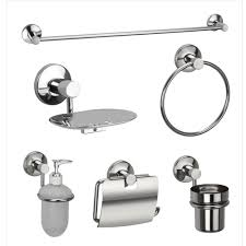 jwell 6 pc stainless steel bathroom accessories set sigma series