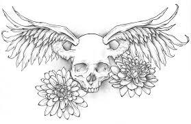 winged skull design by jinx2304 on deviantart
