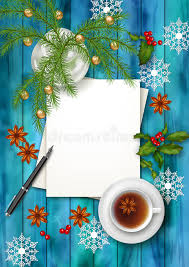 christmas tea party christmas tea party background stock vector illustration of desk