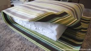 How To Make A Slipcover For A Couch Diy Cushions For Patio Furniture Super Easy I Didn U0027t Have Old