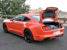 mustang trunk space powersteering 2016 ford mustang review