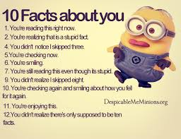 10 facts about you minion quotes