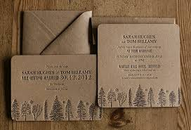 recycled brown letterpress wedding invitations artcadiacopy