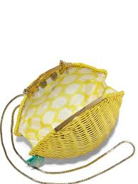 kate spade new york lemon wicker shoulder bag in yellow lyst