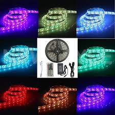 rgb led strip lights 12v amazon com surlight waterproof 16 4ft 5m 300leds rgb smd5050