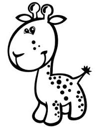 baby giraffe animal coloring kids baby animal coloring
