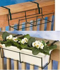 universal rectangular plant holder deck rail planters