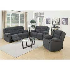 Blue Reclining Sofa by Sofas Living Room Furniture The Home Depot