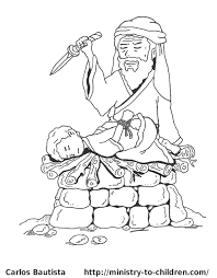 abraham and isaac coloring page 8073