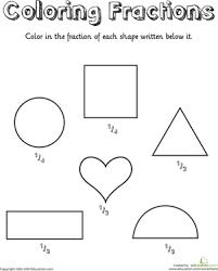 printables fraction worksheets for 1st grade ronleyba worksheets