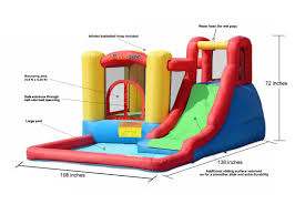 inflatable jump and splash adventure bounce house wet or dry