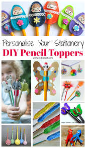 pencil topper craft ideas red ted art u0027s blog
