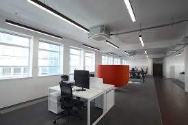 open office lighting design custom slim linear led lighting for office refurbishment interiors
