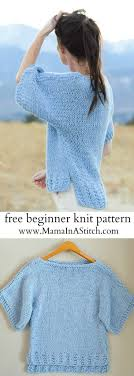 how to knit a sweater easy knitting patterns crochet and knit