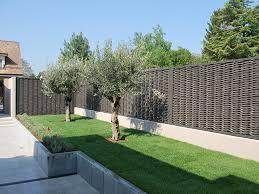jardin cloture barriere de separation jardin prix panneaux grillage rigide