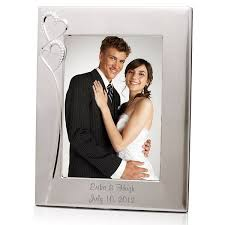 personalized wedding photo frame wedding silver 8x10 picture frame