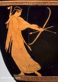 Ancient Greek Vase Painting Artemis Ancient Greek Vase Painting