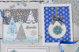 How To Make Punch Cards - how to make a winter trees christmas card hobbycraft blog