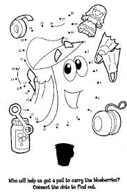 dora coloring pages for toddlers dora the explorer dot to dot and coloring pages printables