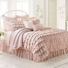 light pink and white bedding light pink ruffle comforter baby 2 nursery pinterest ruffled for set