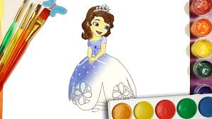 sofia the first draw and color coloring pages for kids