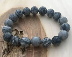 bead bracelet stone images Stone bead bracelet etsy jpg
