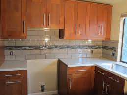 Kitchen Mosaic Tile Backsplash Ideas by Kitchen Style White Ceramic Countertop And Honey Cabinets With