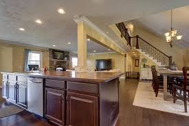 Kitchen Island Columns Traditional Great Room With Columns U0026 High Ceiling In Springfield