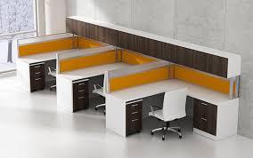 Office Workstation Desk Workstation Desk Laminate Contemporary Commercial Modern