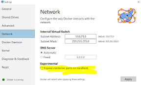 Docker Port Mapping Accessing Container From The Local Network Docker For Windows