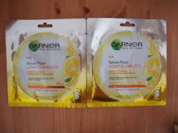 Masker Garnier Lemon garnier skin naturals serum mask light complete brightening lemon