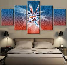 home decor okc modular wall paintings 5 pieces thunder okc poster home decor modern