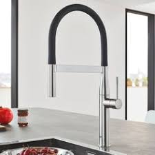 pro kitchen faucet the grohe essence semi pro kitchen faucet has modern design and