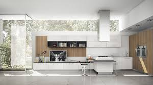 contemporary kitchen glass laminate island evolution aerre