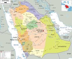 arab map detailed political map of saudi arabia ezilon maps