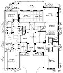 strikingly beautiful 2 mediterranean style courtyard house plans