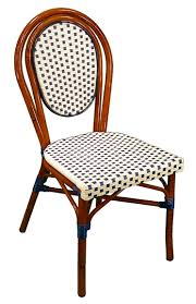 Blue Bistro Chairs Bistro Aluminium Chair With All Weather Weave And Rattan
