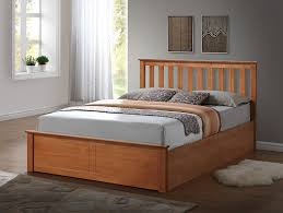 White Small Double Bed Frame by Birlea Phoenix Ottoman Bed Pine Oak Small Double Amazon Co Uk
