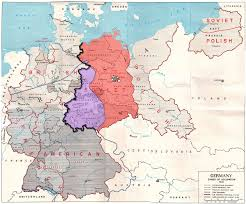 Map Of Germany And France by Allied Occupation Zones In Germany 1945 Cold War Pinterest