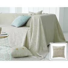 jeté de canapé 250x350 déco textile beige 3suisses