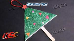 christmas tree hanging from foam sheet craft for kids jk easy