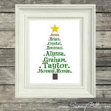 personalized christmas christmas tree print