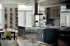 Home Decor For Men Kitchen Decor For Men Shapely Wooden Bar Stools Silver Gas Range