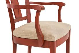 Esszimmer Armlehnstuhl Jean 4er Set Sessel Mit Gepolsterter Sitzfläche Antik Rot