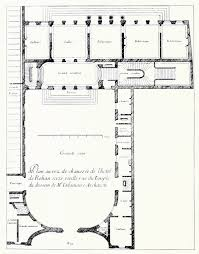 ground floor plans de la maire u0027s floor plan of the hôtel de rohan u0027s ground floor