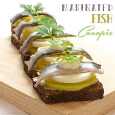 food canapes marinated fish canapés foods