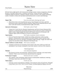 Sample Resume Language by Sample Resume Theatre Teacher