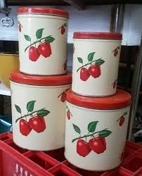 apple kitchen canisters 40 best decoware images on vintage kitchen kitchen