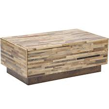 Wooden Coffee Table With Drawers Caledonia Reclaimed Pine Wood 2 Drawer Coffee Table Furniture